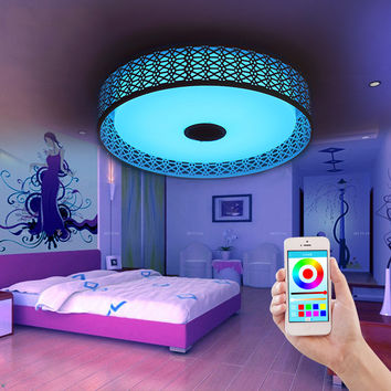 Bluetooth Music Ceiling Lights Intelligent Led App Sitting Room Bedroom Lamp Is Acted The Role Of Colorful Color Light