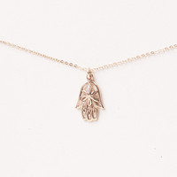Delicate Hamsa Blessing Necklace
