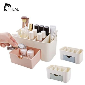 FHEAL Bathroom Cosmetics Storage Box With Drawer Kitchen Tableware Organize Container Desktop Debris Grid Storage Holder