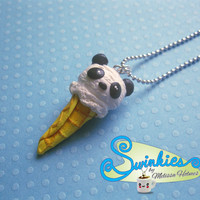 Panda Bear Ice Cream Cone Necklace