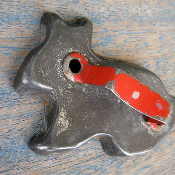 Vintage Rabbit Cookie Cutter with Red Handle by QuietRainz on Etsy