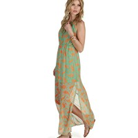 Sale-so Into Summer Tropical Maxi Dress