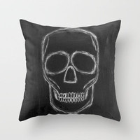 No. 57 - The Skull Throw Pillow by Adriane Duckworth | Society6