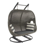 77507 Striking Metal Polyethylene Wicker Swing
