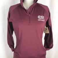 CR Women's Maroon 1/4 Zip