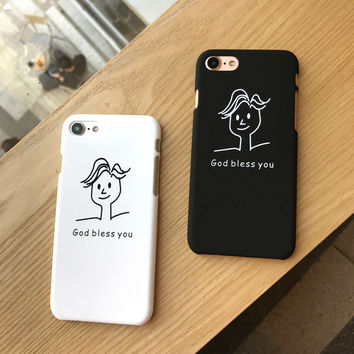 GOD BLESS YOU Case for iPhone 7 7Plus & iPhone se 5s 6 6 Plus Best Protection Cover +Gift Box