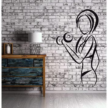 Sexy Woman Wall Decal Sports Fitness Healthy Lifestyle Gym Stickers Art Unique Gift (ig2514)
