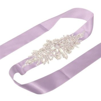 New Arrive Elegant Rhinestone Vintage Crystal Wedding Party Bride Bridesmaid Belt Dress Flower Sash Accessories 10 Colors