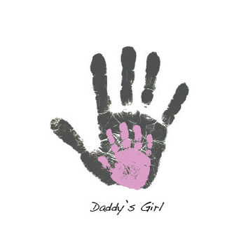 Personalized Father's Day gift handprint art digital footprint for Dad from child or baby