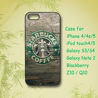 Starbucks, iPhone 5 Case, iPhone 4 Case, ipod 4 case, ipod 5 case, Samsung Galaxy S4, Samsung Galaxy S3, Samsung note 2, blackberry z10, Q10