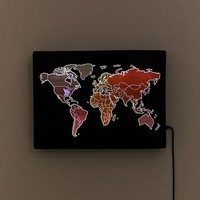 Scratch-Off World Map LED Light | Urban Outfitters