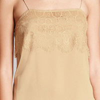 Eyelash Lace Satin Cami
