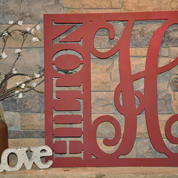 Personalized Sign - Name Sign - Established Sign - Wedding Keepsake- Personalized Wedding Gift - Custom Wall Hanger - Custom Name Sign -