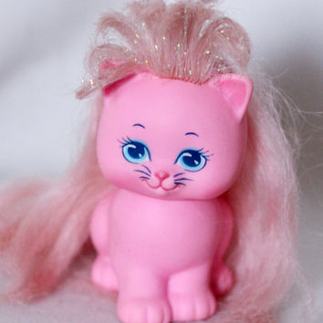 Vintage Mattel TCFC Lady Lovely Locks Pet Kitty Kitten PINKY PAWS Cute Pink Cat