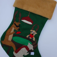 Poker Personalized Christmas Stocking--Antler Up