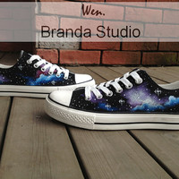 Galactic nebula,Galaxy Converse,Hand Paint On Custom Converse Only 88Usd,Studio Hand Painted Shoes 47.99Usd,Buy One Get One Phone Case Free