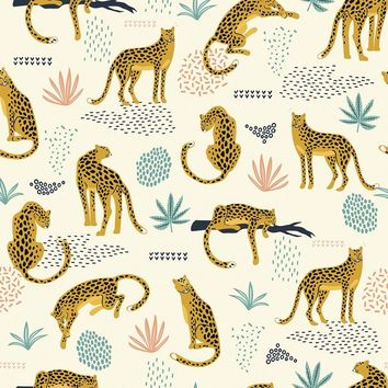 Jungle Cat Removable Wallpaper