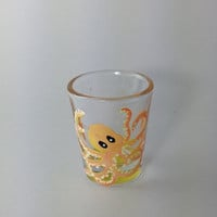 Octopus Painting on Shot Glass