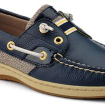 Sperry Top-Sider Rainbowfish Slip-On Boat Shoe Navy/Patent, Size 10S  Women's Shoes