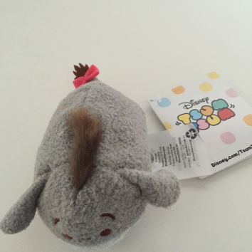 disney store authentic europe eeyore 3 1/2 tsum plush new with tags