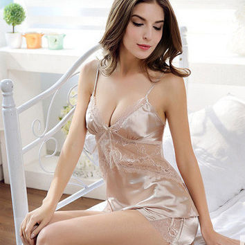 Sleepwear Sexy Home Set [4918294404]