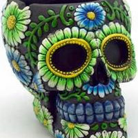Black/ Green Skull ashtray