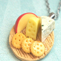 cheese plate necklace