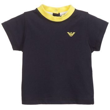 Armani Baby Boys Navy T-shirt