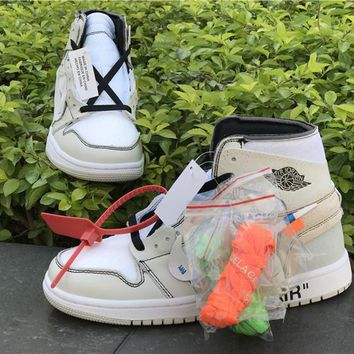 Off White x Nike Air Jordan 1 White Sneaker
