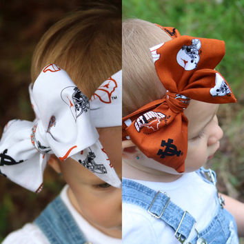 Texas Longhorns Head Wrap in your choice of UT Orange or White