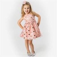 Baby Girl and Toddler Sleeveless Polka Dot Party Dress.    In Sizes 12Mo, 2T, 3T and 4T.    ***FREE SHIPPING***