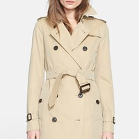 Women's Burberry London 'Kensington' Double Breasted Trench Coat