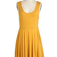 Days of the Chic Dress in Mustard | Mod Retro Vintage Dresses | ModCloth.com