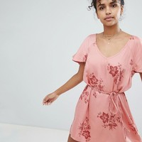 Billabong Floral Beach Dress at asos.com