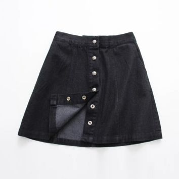 Causal Button Down denim  skirt B0016426