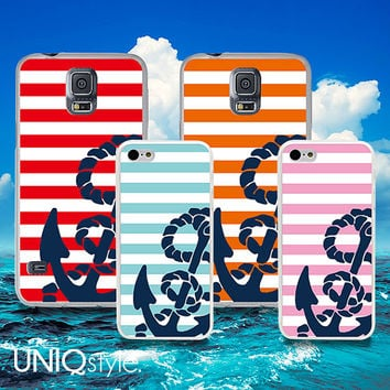 Nautical Anchor phone case for iPhone htc - iphone 4 4s case - iphone 5 5s case - iphone 5c case - HTC one m7 case - HTC one m8 case - W21