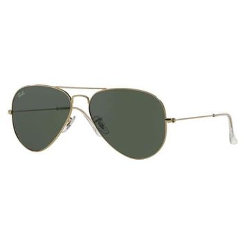 Ray-Ban Aviator RB3025 Unisex Gold Frame Green Lens Sunglasses | Overstock.com Shopping - The Best Deals on Fashion Sunglasses