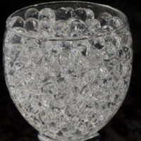Water Beads Pearls Jelly Balls Vase Fillers, Small, Clear