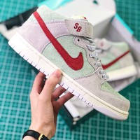 Nike Sb Dunk Mid White Widow Aq2207-163 Sport Shoes - Best Online Sale