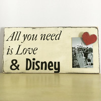 Disney Wedding sign living room decor wedding gift anniversary gift bridal shower gift for her wedding reception decor black and white sign
