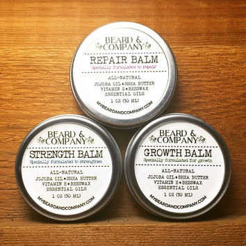 BEARD BALM BUNDLE (GROWTH, REPAIR, STRENGTH)