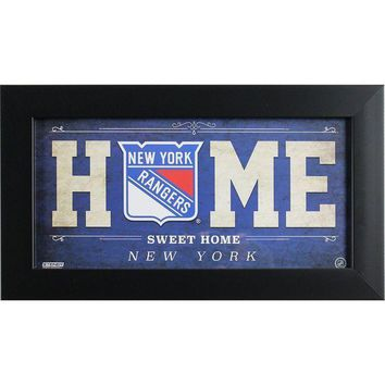 MDIGMS9 New York Rangers 6x12 Home Sweet Home Sign