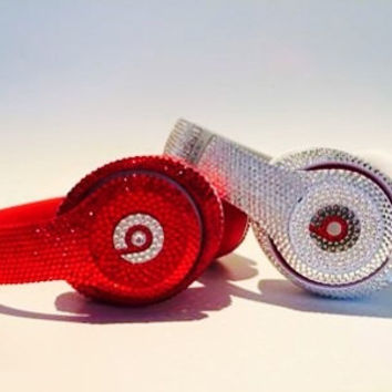 Swarovski Crystal Beats By Dre Bling Diamond Headphones - Made with Swarovski Elements Crystal Studio, Solo, and Pro Beats Headphones