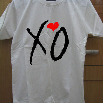 The Weeknd Official Issue Shirt Xo OVOXO Logo Black White Gray Maroon Unisex t-Shirt Tee S,M,L,XL #1