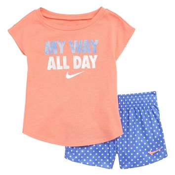 Nike My Way All Day Graphic Tee & Shorts Set (Baby Girls) | Nordstrom