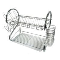 Better Chef DR-22 Dish Rack Chrome 22 W/Cutlery Holder Mug Stand & Drain Tray
