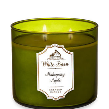 White BarnMAHOGANY APPLE3-Wick Candle