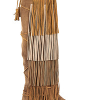 Etro - Fringed suede knee boots