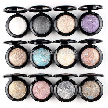 5pcs Metallic Glitter Cream Single Baked Eye Shadow Powder Makeup Palette in Shimmer Eyeshadow Palette Paleta de Maquiagem