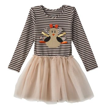 Marmellata Classics Ribbon Turkey Dress - Toddler Girl, Size: